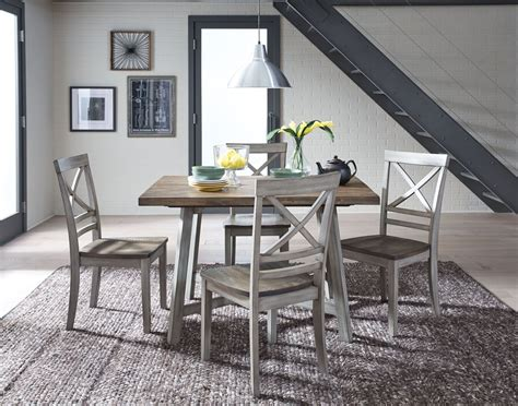 fairhaven rustic grey dining table set  standard