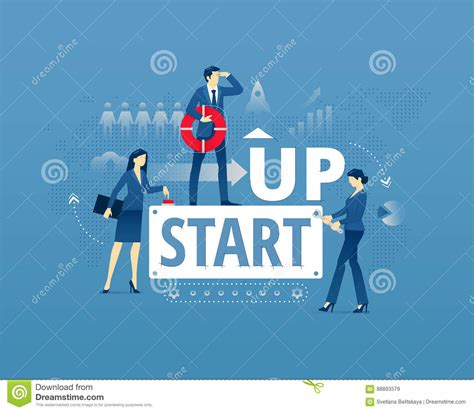 free illustration startup start up business start business startup typographic poster royalty free
