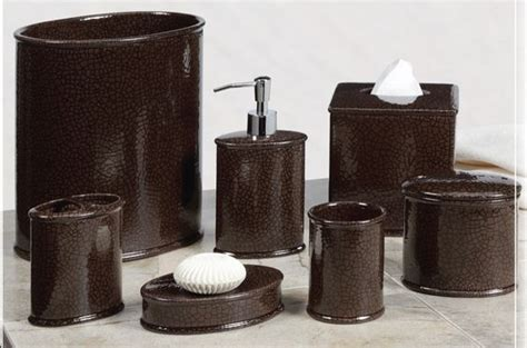 beautiful bathroom accessories sets with brown broken