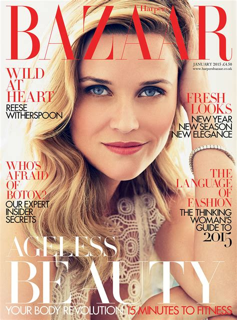 Is Cover Of Harpers Bazaar by Reese Witherspoon Is Bazaar S January 2015 Cover