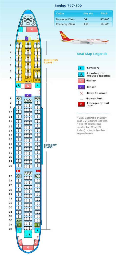 seat map boeing 767 hainan airlines aircraft seatmaps airline seating maps