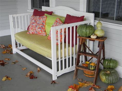 Baby Crib Turned Front Porch Daybed Convert Crib To Daybed
