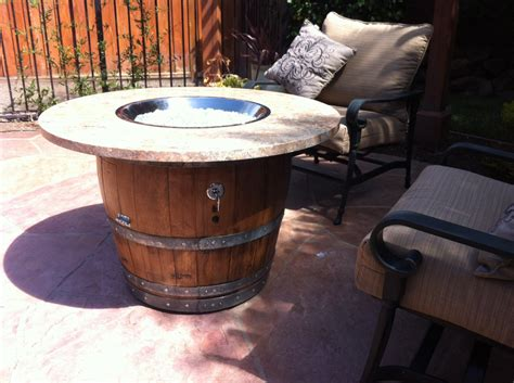 wine barrel table by 2guysandabarrel on etsy