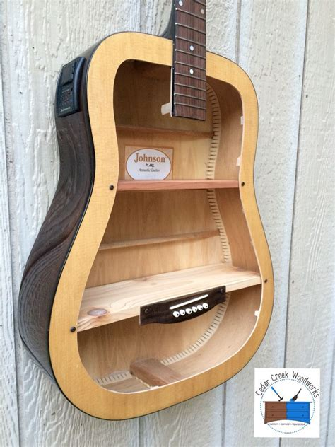 guitar repurposed  shelf guitar shelf