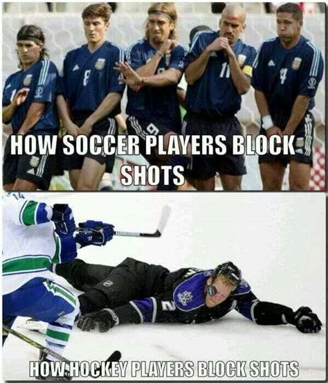 Soccer Hockey Meme - hockey players might eat their young if they thought it