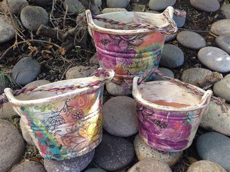 imagenes de vasos vintage macetas de barro decoradas estilo vintage 3 piezas 390