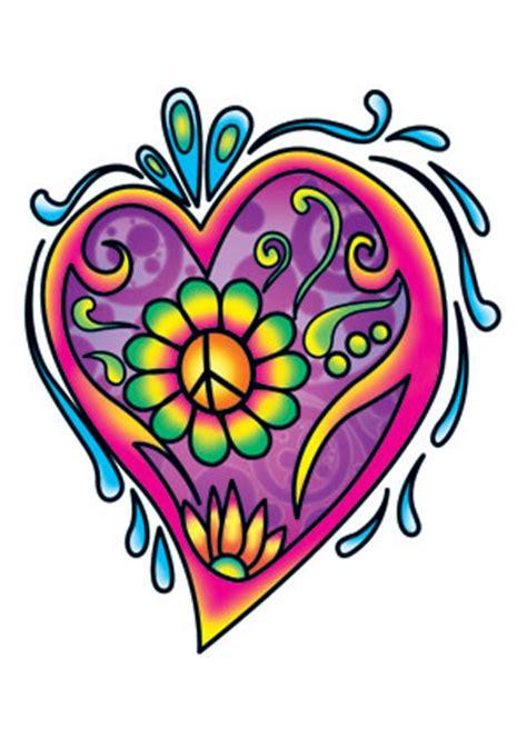 tattoo flower power flower power herz tattooforaweek com vor 252 bergehendes