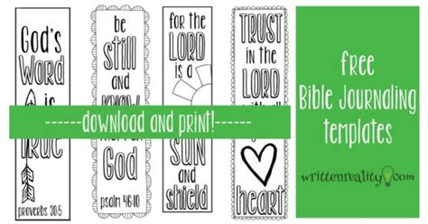 Bible Journaling Templates Written Reality Free Bible Journaling Templates