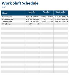 shift work calendar template schedule template 39 free word excel pdf format