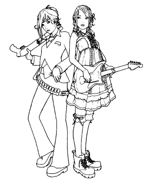 coloring page of a rock star guitar coloring pages to print