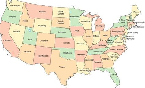 Show Me The Map Of The United States show me a map of the united states of america