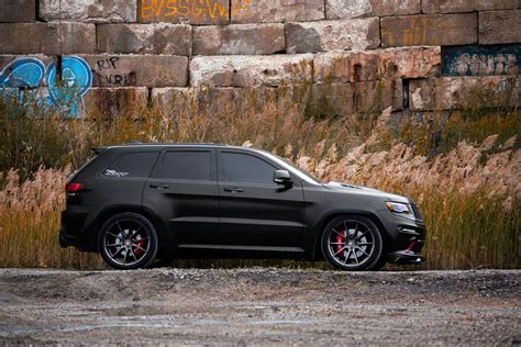 jeep srt matte black avant garde wheels jeep grand srt 22 quot ag m652
