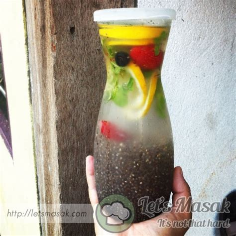 Chia Detox Water Recipe by Chia Seeds Detox Water Recipe Letsmasak