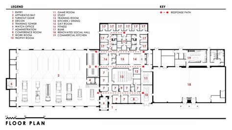 station designs floor plans zones in stations firefighter news firehouse