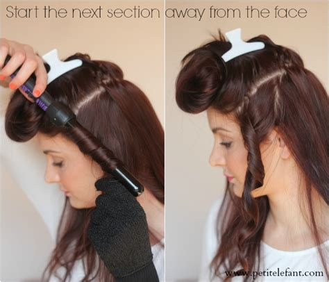 how to use a curling wand the small things blog how to use a curling wand or clipless curling iron
