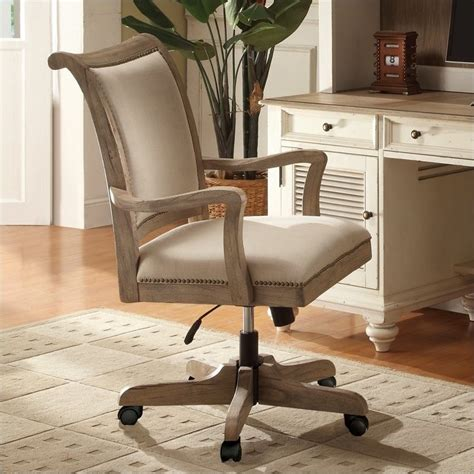 Where To Buy Home Office Furniture Riverside Furniture Coventry Desk Office Chair In Weathered Driftwood 32438