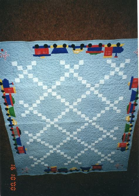 Single Chain Baby Quilt single chain baby quilt with applique and