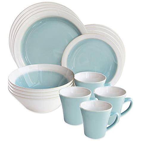american atelier ashbury 16 piece dinnerware set in green bed bath beyond