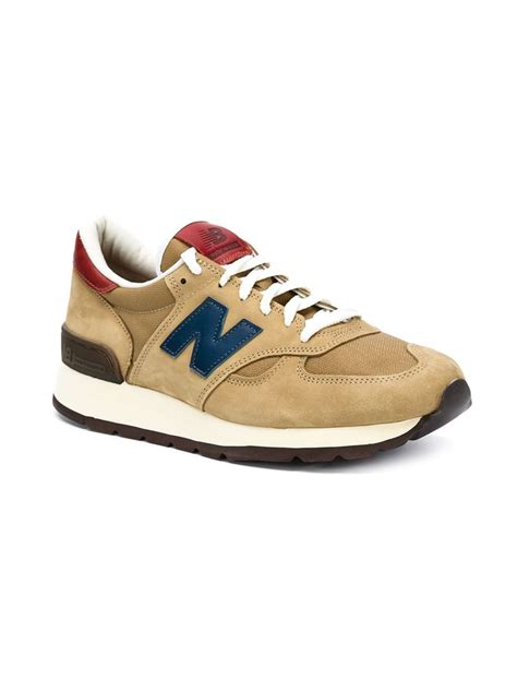 modern sneakers new balance 990 mid century modern sneakers in brown for