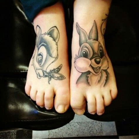 thumper tattoo foot disney s and thumper xx ideas