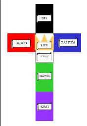 what color was jesus colors of cross