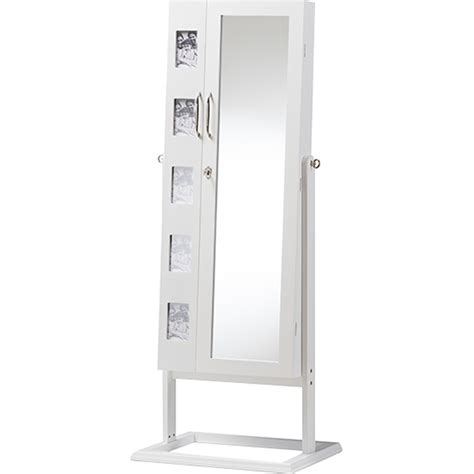 White Standing Jewelry Armoire by Vittoria Floor Standing Jewelry Armoire Cabinet Doors White Dcg Stores