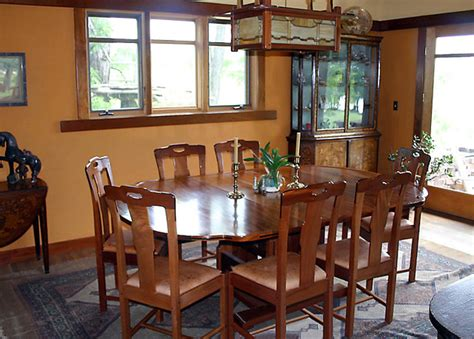 gamble house inspired dining table  chairs craftsman