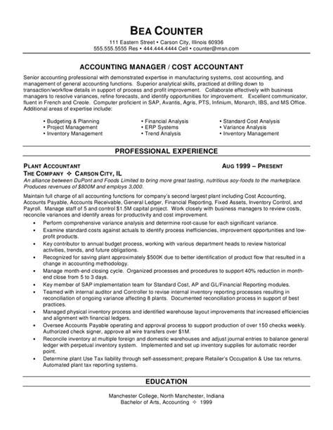 Resume Templates For Accountants Free senior accountant resume sle professional sles prime