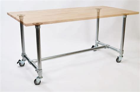 Pipe Frame Desk pipe desk frames attach to any table top
