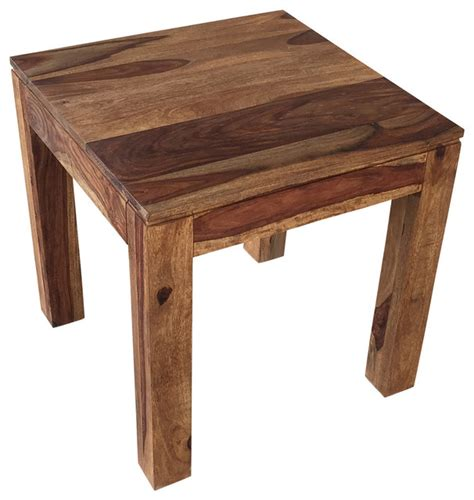 rustic wood accent table nspire solid sheesham wood accent table reviews houzz