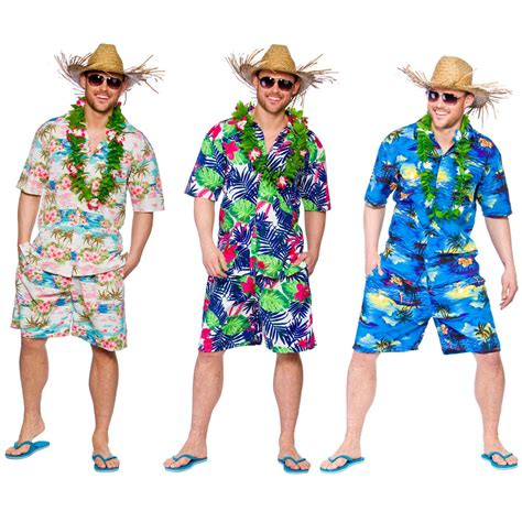 Beach Themed Clothing Party | mens hawaiian party guy luau summer beach shirt shorts