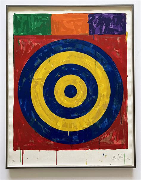 jasper johns jasper johns target screenprint joseph k levene fine art ltd