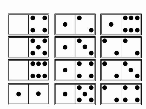 printable domino cards for math dominoes template