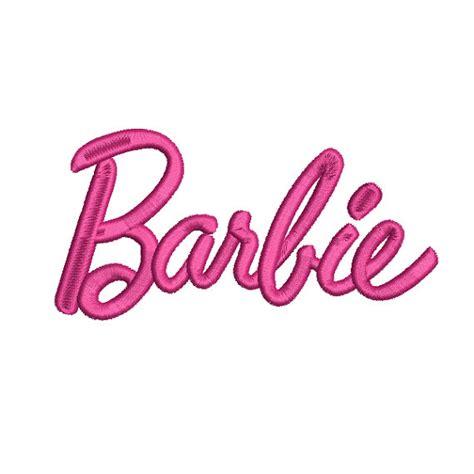 doll logo design barbie doll logo script girls embroidery machine design