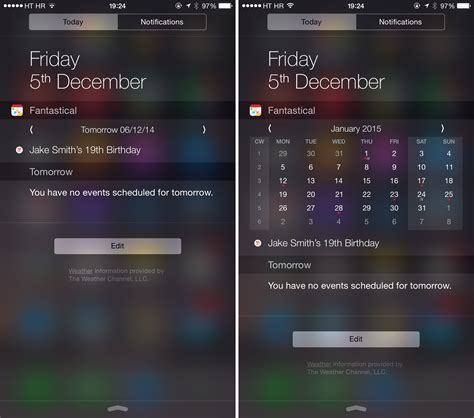 Calendar Widget Iphone Fantastical 2 Can Now Change Days In Today Widget And More