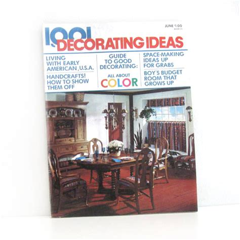 home and decor ideas magazine vintage 1970s home decor magazine 1001 decorating ideas
