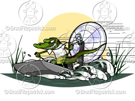 airboat cartoon need a cartoon alligator in an air boat see my cartoon
