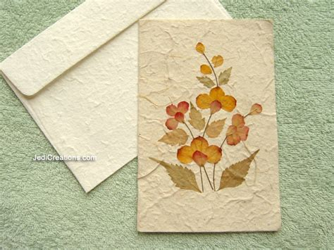 dried pressed flowers greeting cards handmade saa paper