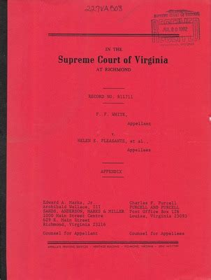 Chesapeake Court Records Virginia Supreme Court Records Volume 227 Virginia Supreme Court Records