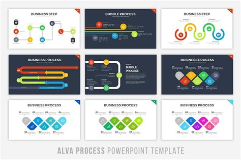 process template powerpoint alva process powerpoint template by bra design bundles
