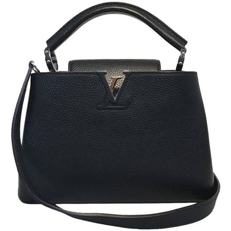 Lv Capucine 2 25 louis vuitton black capucines bb handbag at 1stdibs
