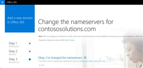 changing the from domain in office 365 change how dns records are managed with office 365