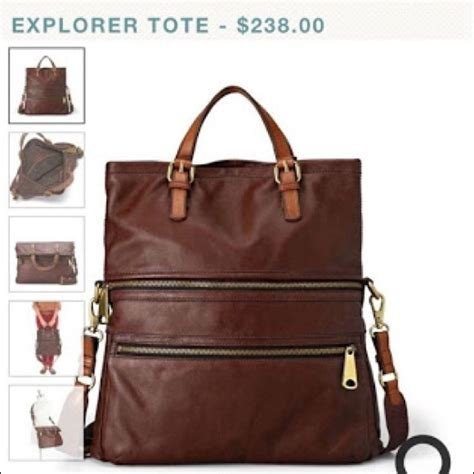 Fossil Tote Bag Leather 24 fossil handbags fossil explorer leather tote in
