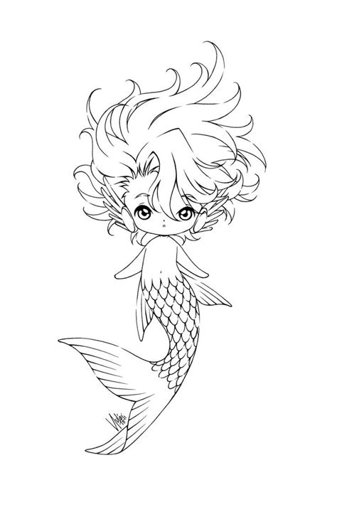 adult mermaid with long hair by lian2011 coloring pages sereia scrapping and cards pinterest mermaid adult