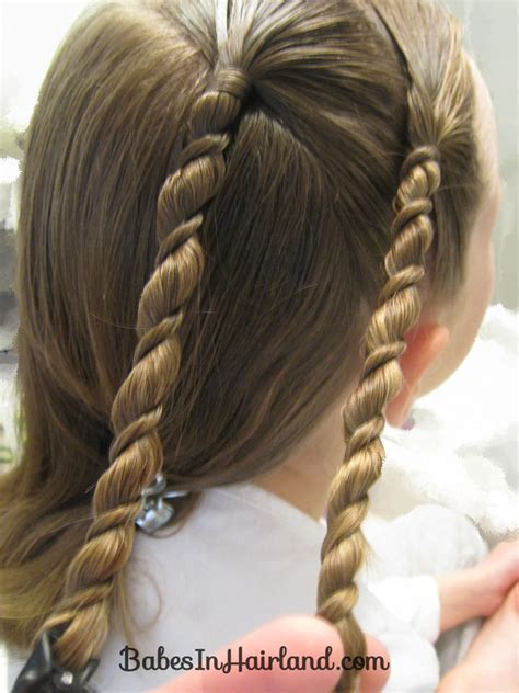hairstyles with rope braids uneven rope twist braid style video babes in hairland