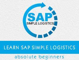 tutorial sap logistics sap simple logistics quick guide