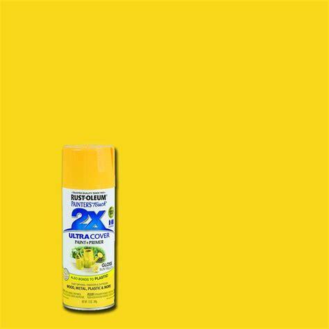 rustoleum spray paint x2 rust oleum painter s touch 2x 12 oz gloss sun yellow