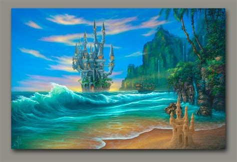 Beach Wall Murals fantasy beach by david miller