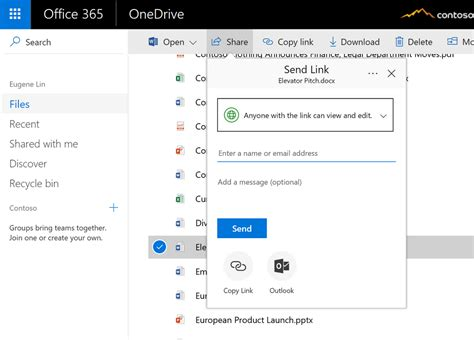 share email new sharing features for onedrive and sharepoint