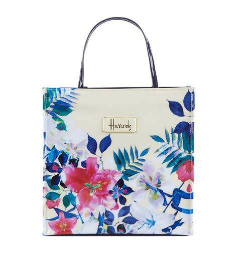 Floral Shopper Bag lyst harrods small tropical floral shopper bag in blue